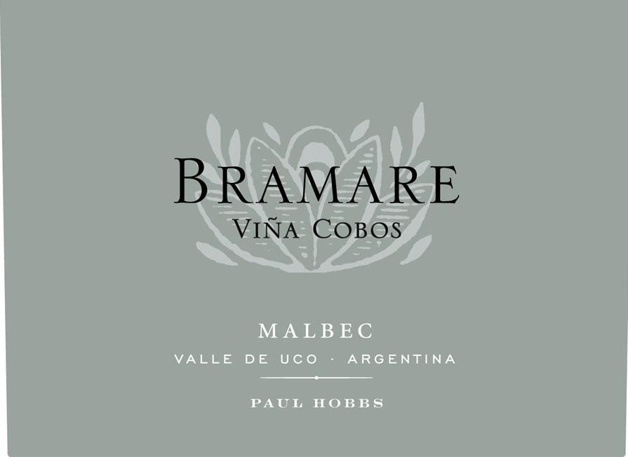 Vina Cobos Bramare Uco Valley Malbec 2016 Front Label