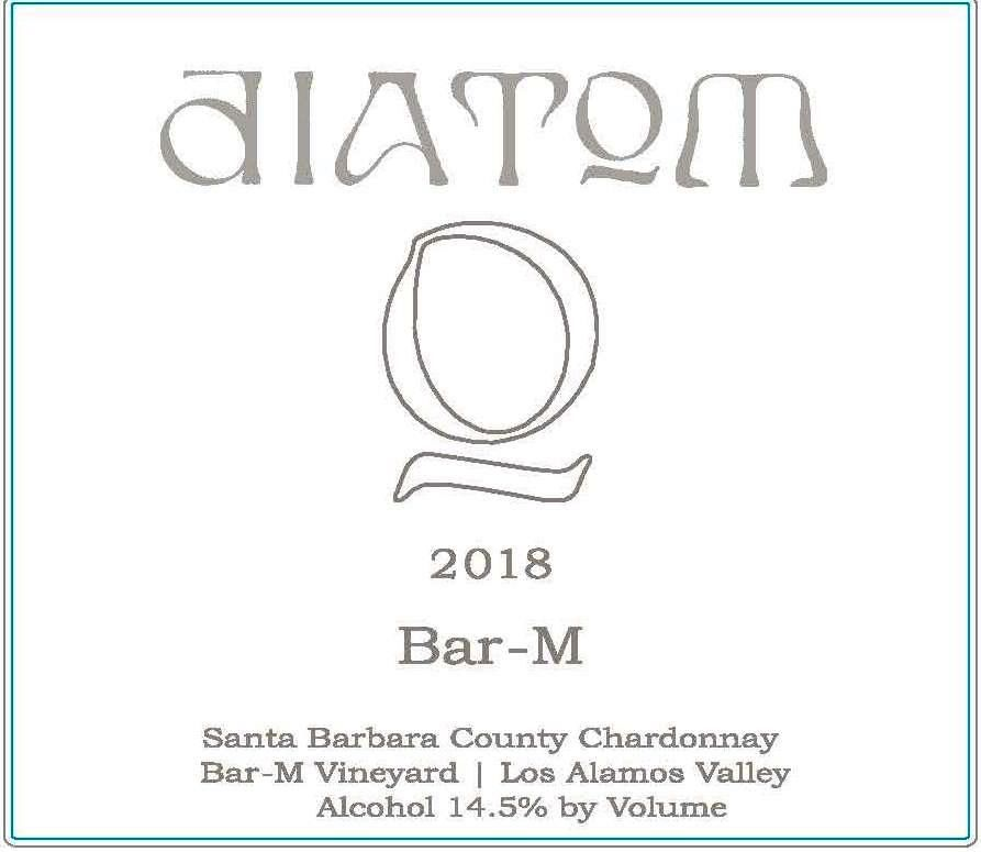 diatom Bar-M Vineyard Chardonnay 2018 Front Label