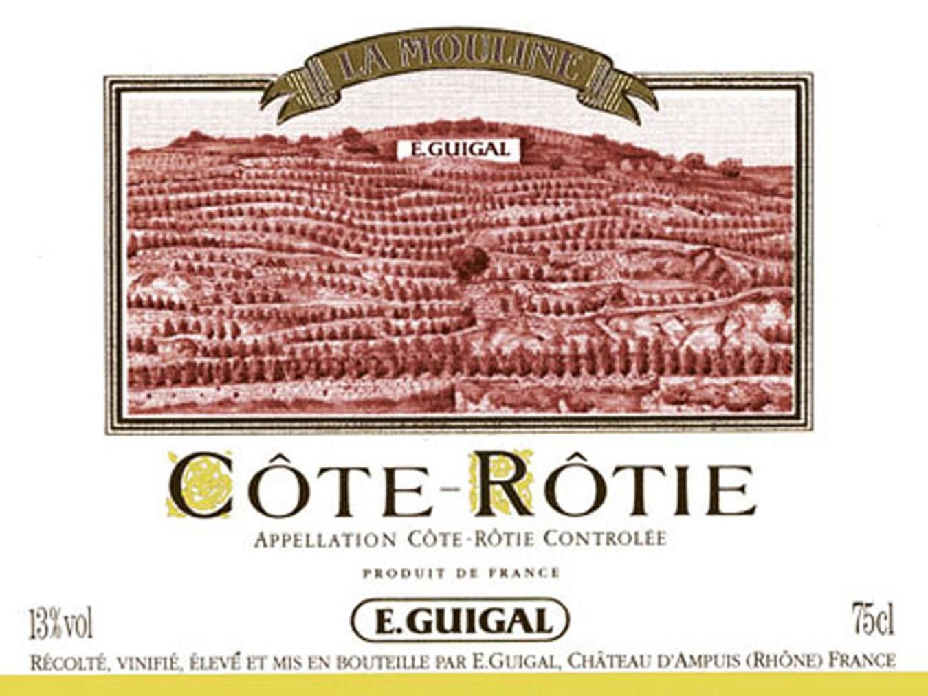 Guigal La Mouline Cote Rotie 1998  Front Label