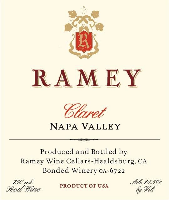 Ramey Napa Valley Claret (375ML half-bottle) 2016 Front Label