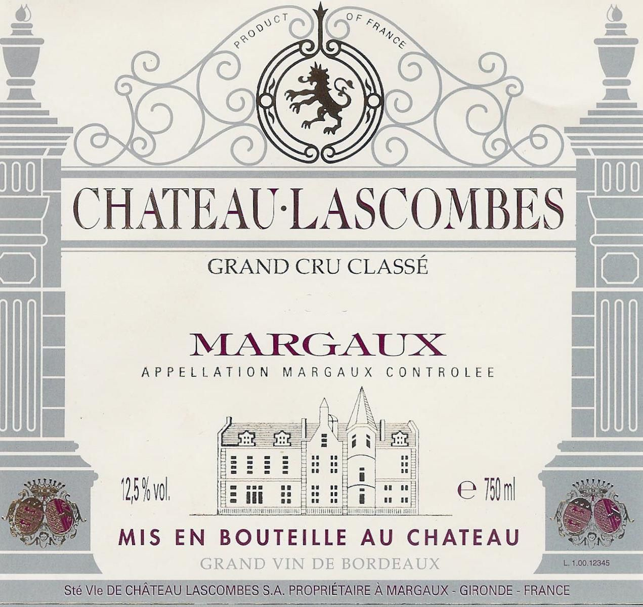 Chateau Lascombes  2015  Front Label