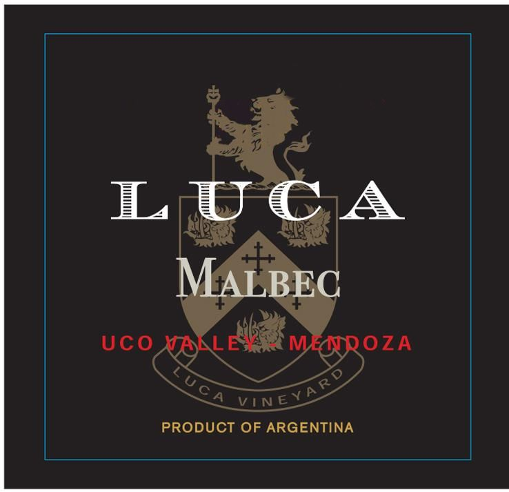 Luca Old Vine Malbec 2016 Front Label