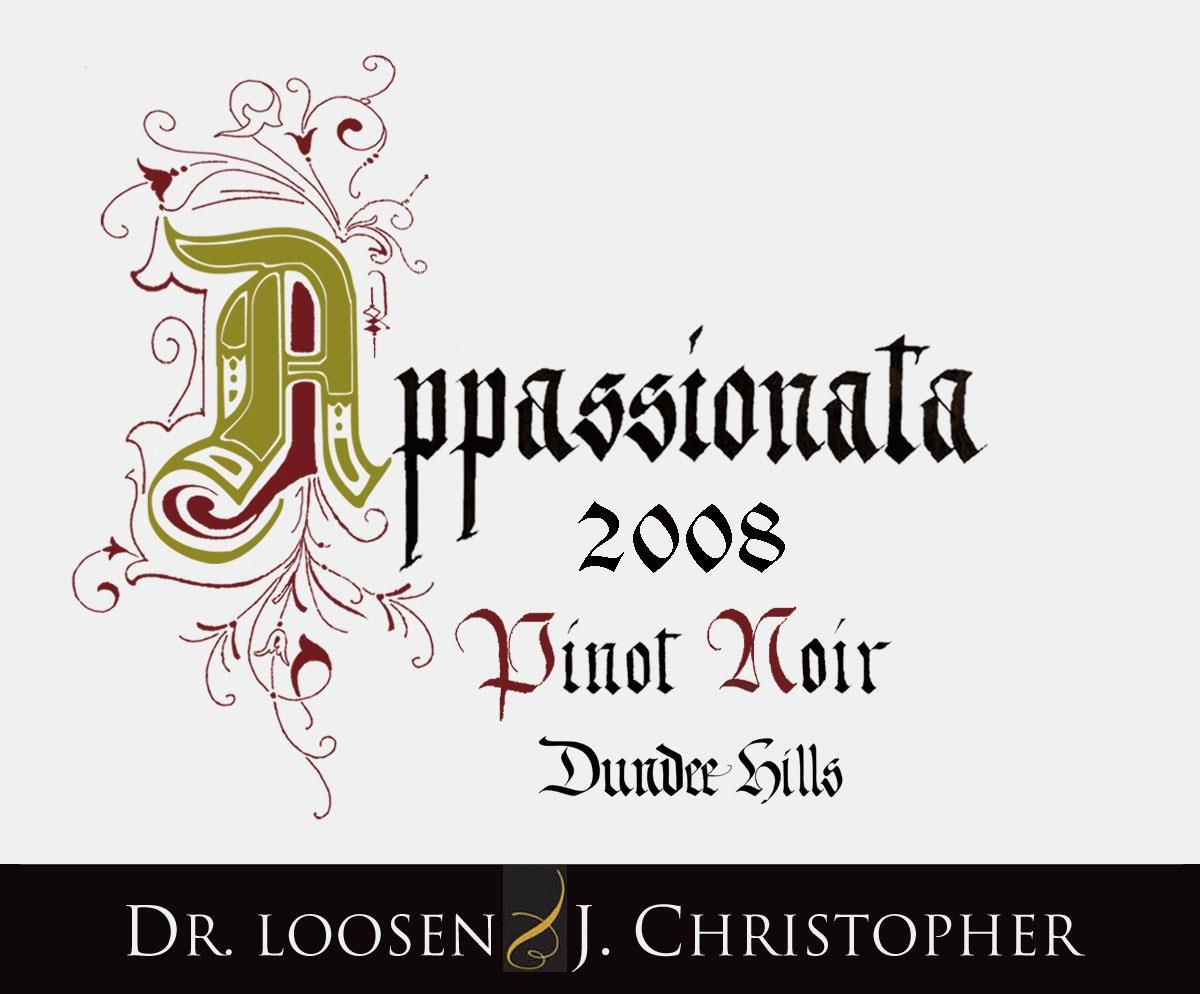 J. Christopher Appassionata Pinot Noir 2008  Front Label
