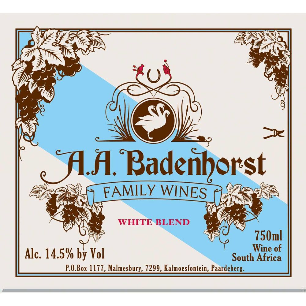 Badenhorst Family White Blend 2017  Front Label