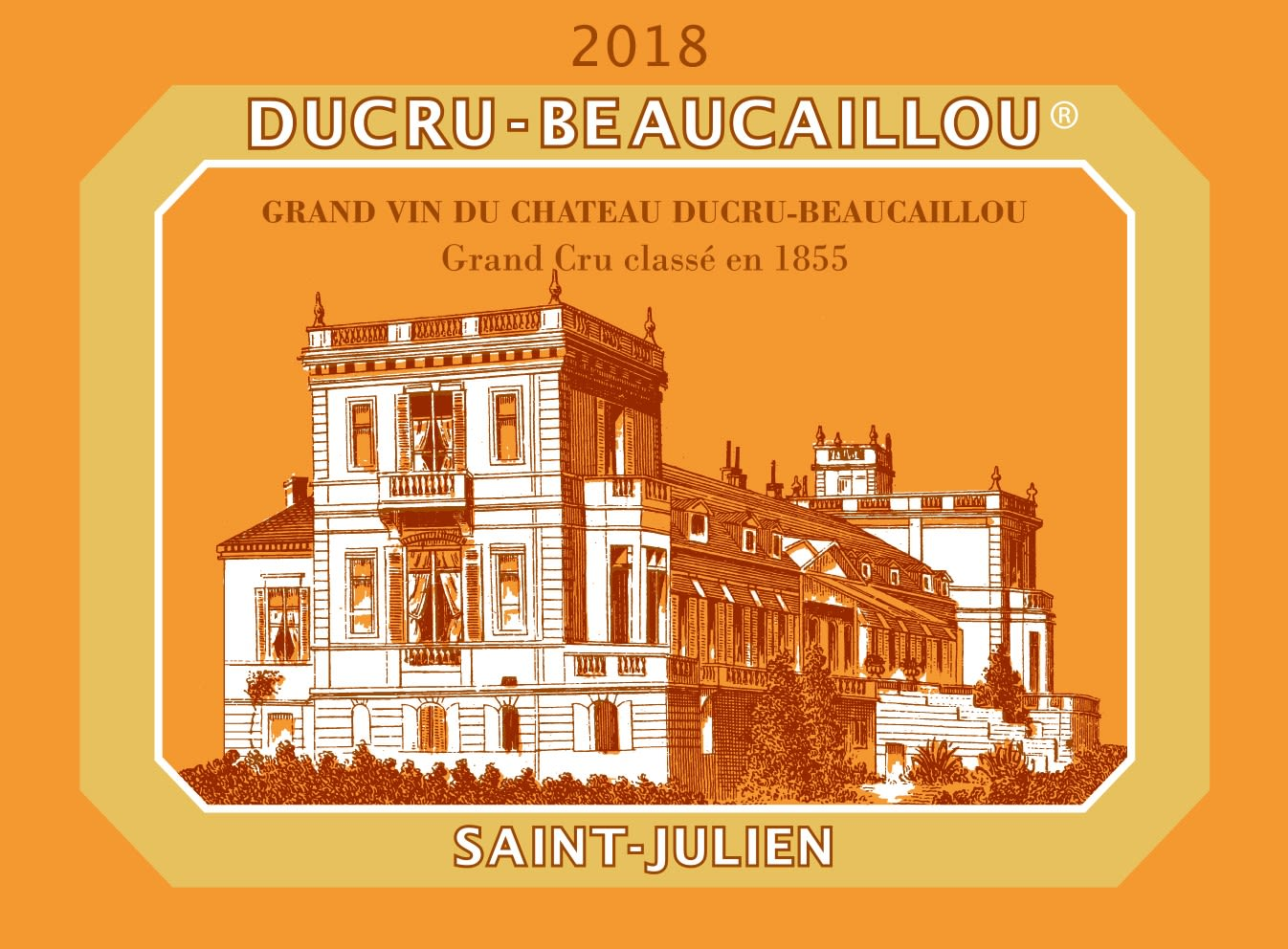 Chateau Ducru-Beaucaillou (6-Pack OWC Futures Pre-Sale) 2018  Front Label