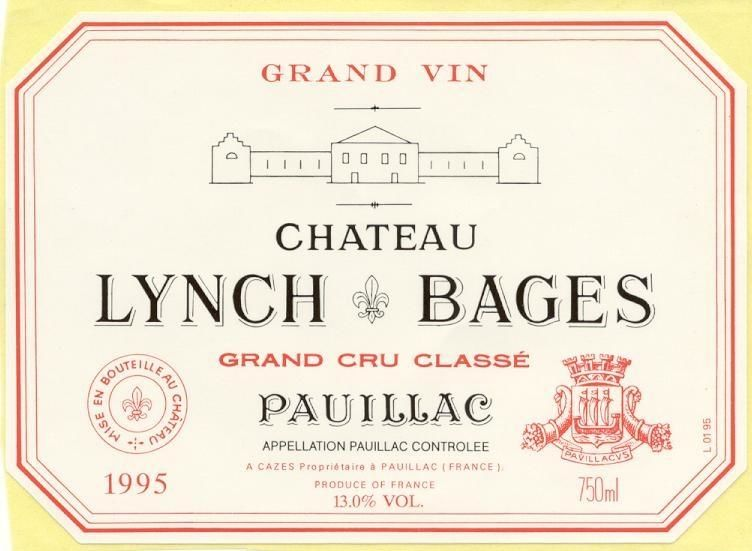 Chateau Lynch-Bages  1995  Front Label