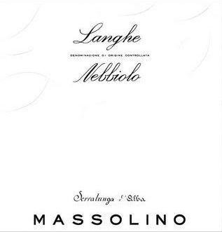 Massolino Langhe Nebbiolo 2017  Front Label