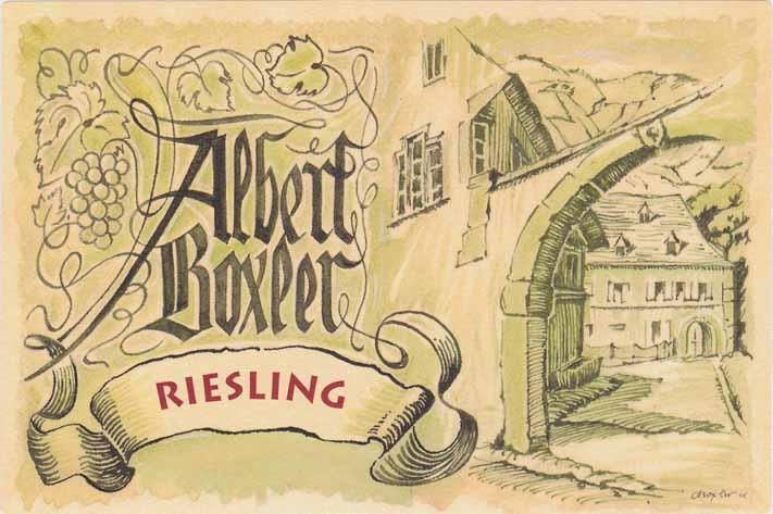 Albert Boxler Riesling 2015  Front Label
