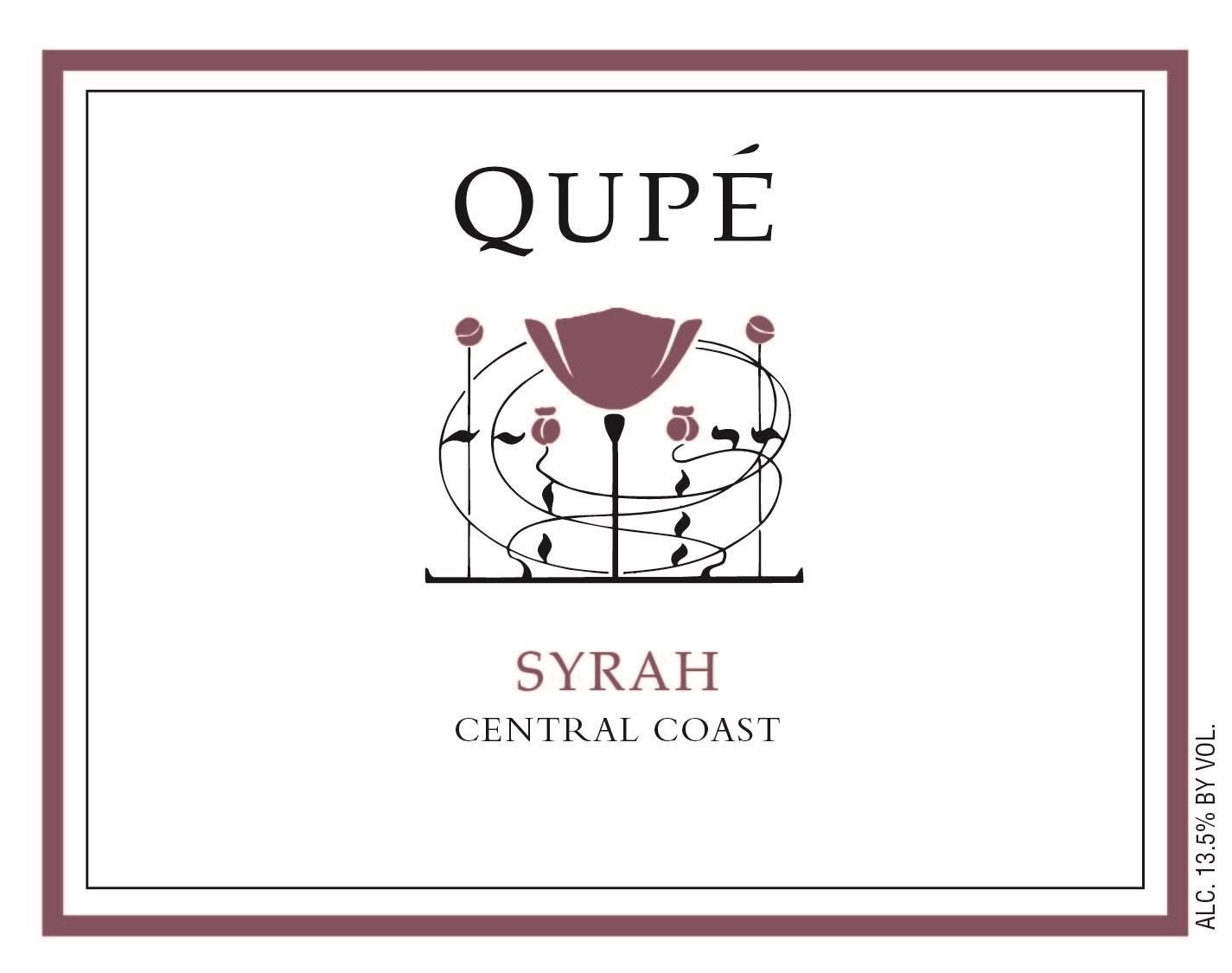 Qupe Central Coast Syrah (375ML half-bottle) 2015 Front Label