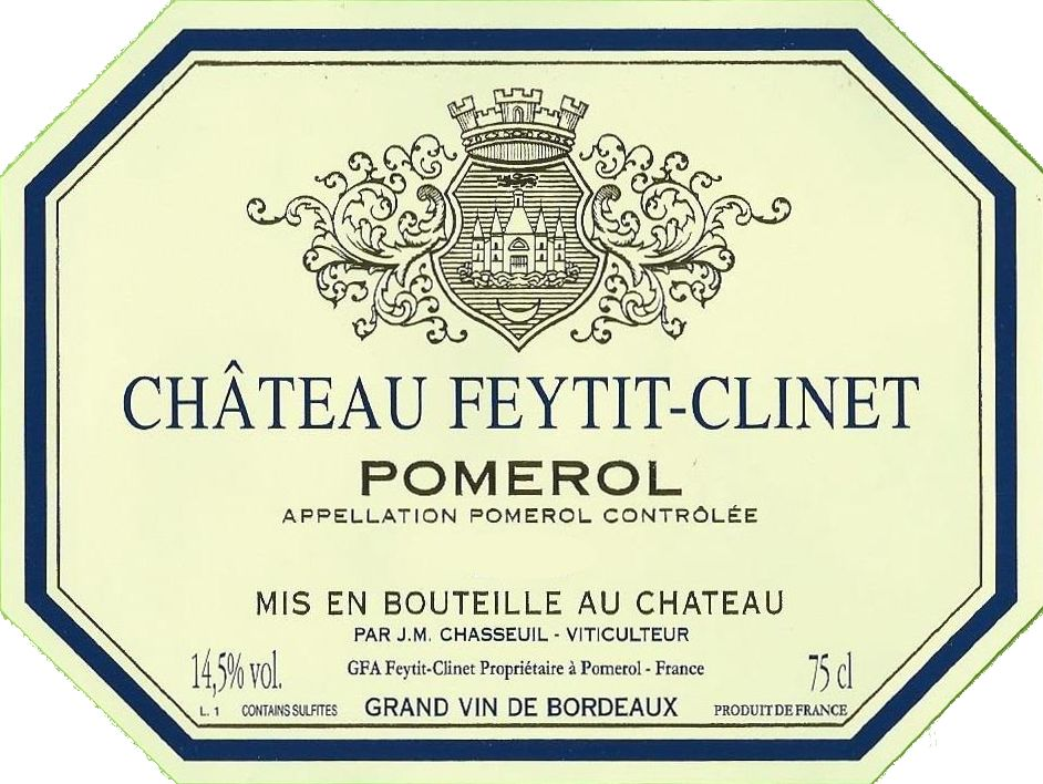 Chateau Feytit-Clinet (Futures Pre-Sale) 2018  Front Label
