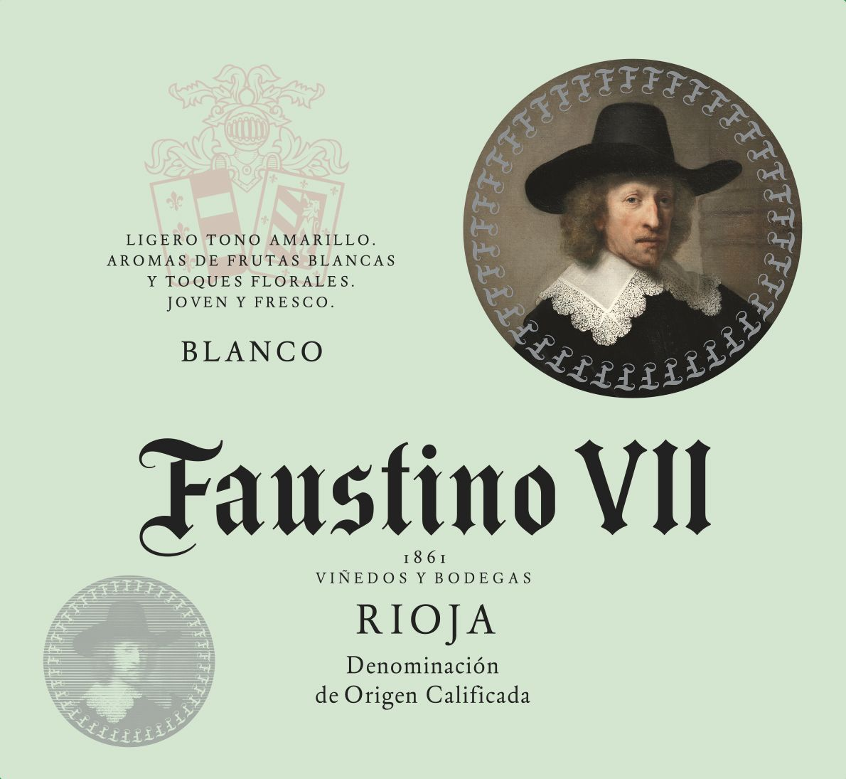 Faustino VII Blanco 2018  Front Label
