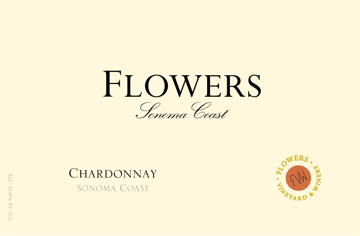 Flowers Sonoma Coast Chardonnay 2017  Front Label