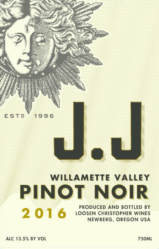 J. Christopher J.J Pinot Noir Willamette Valley 2016  Front Label