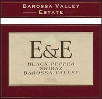 Barossa Valley Estate E & E Black Pepper Shiraz 2001 Front Label