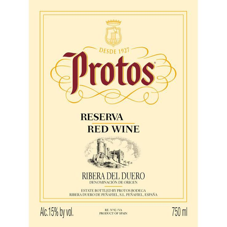 Protos Reserva 2013  Front Label