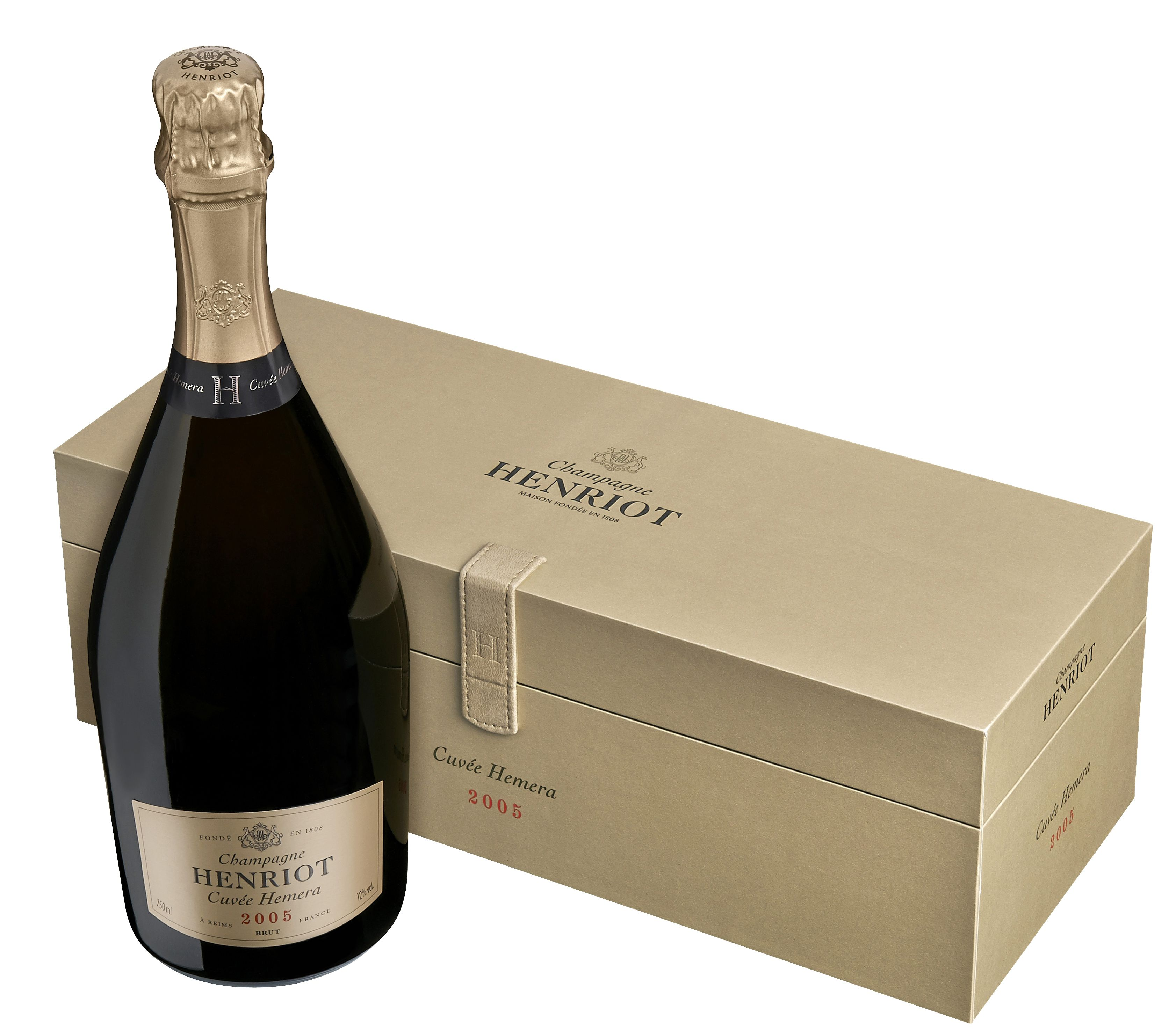 Henriot Cuvee Hemera with Gift Box 2005 Front Bottle Shot