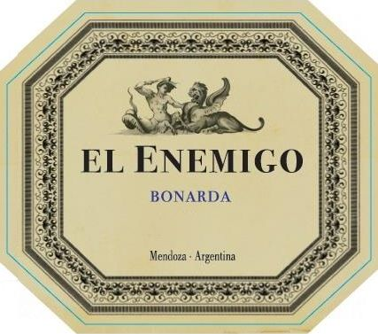 El Enemigo  Bonarda 2015 Front Label