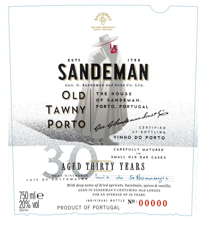 Sandeman 30 Year Old Tawny Front Label