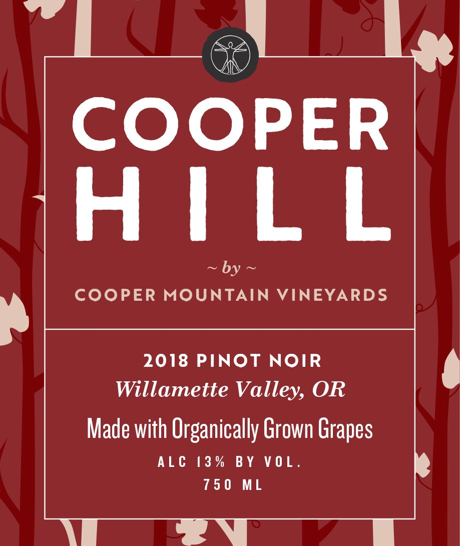 Cooper Mountain Cooper Hill Pinot Noir 2018  Front Label