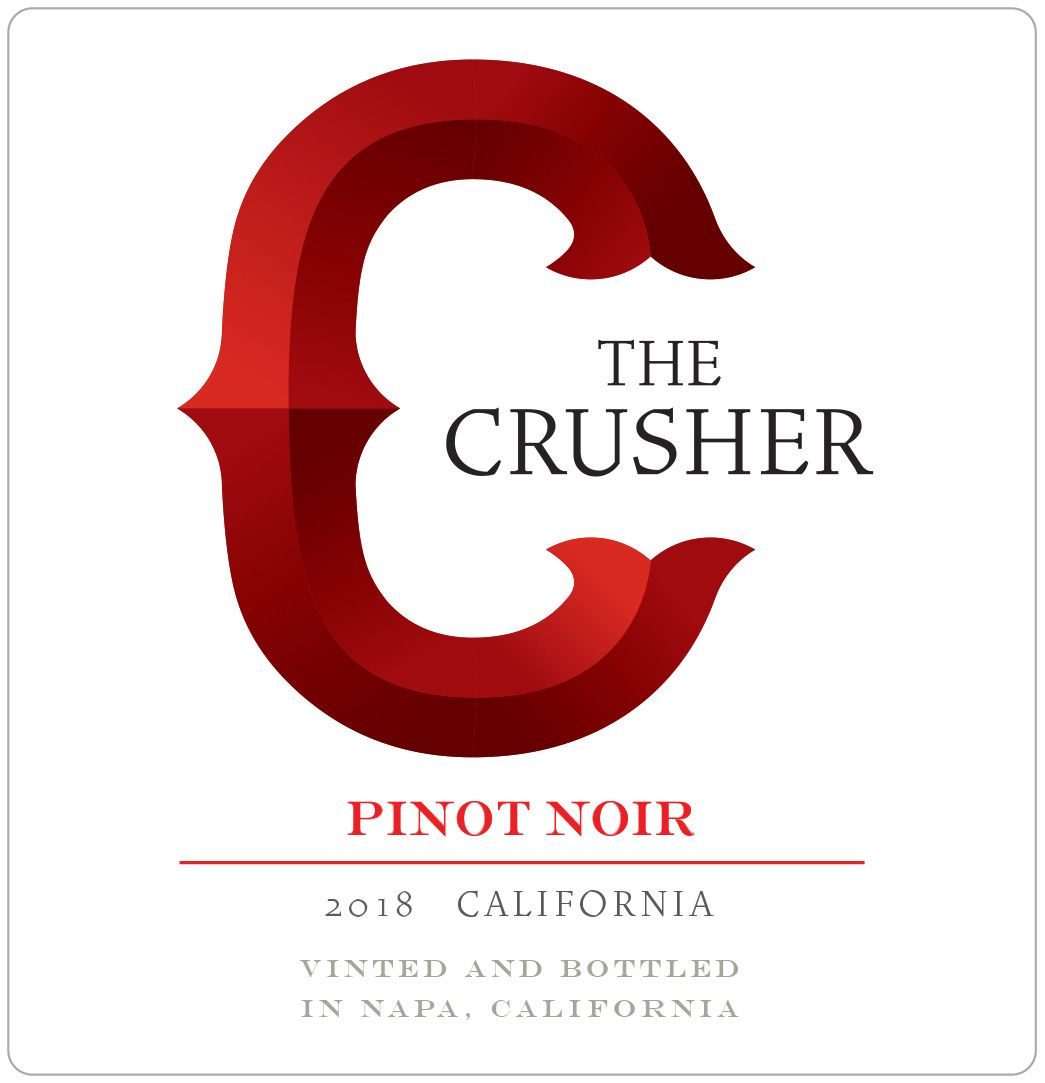 The Crusher Pinot Noir 2018  Front Label