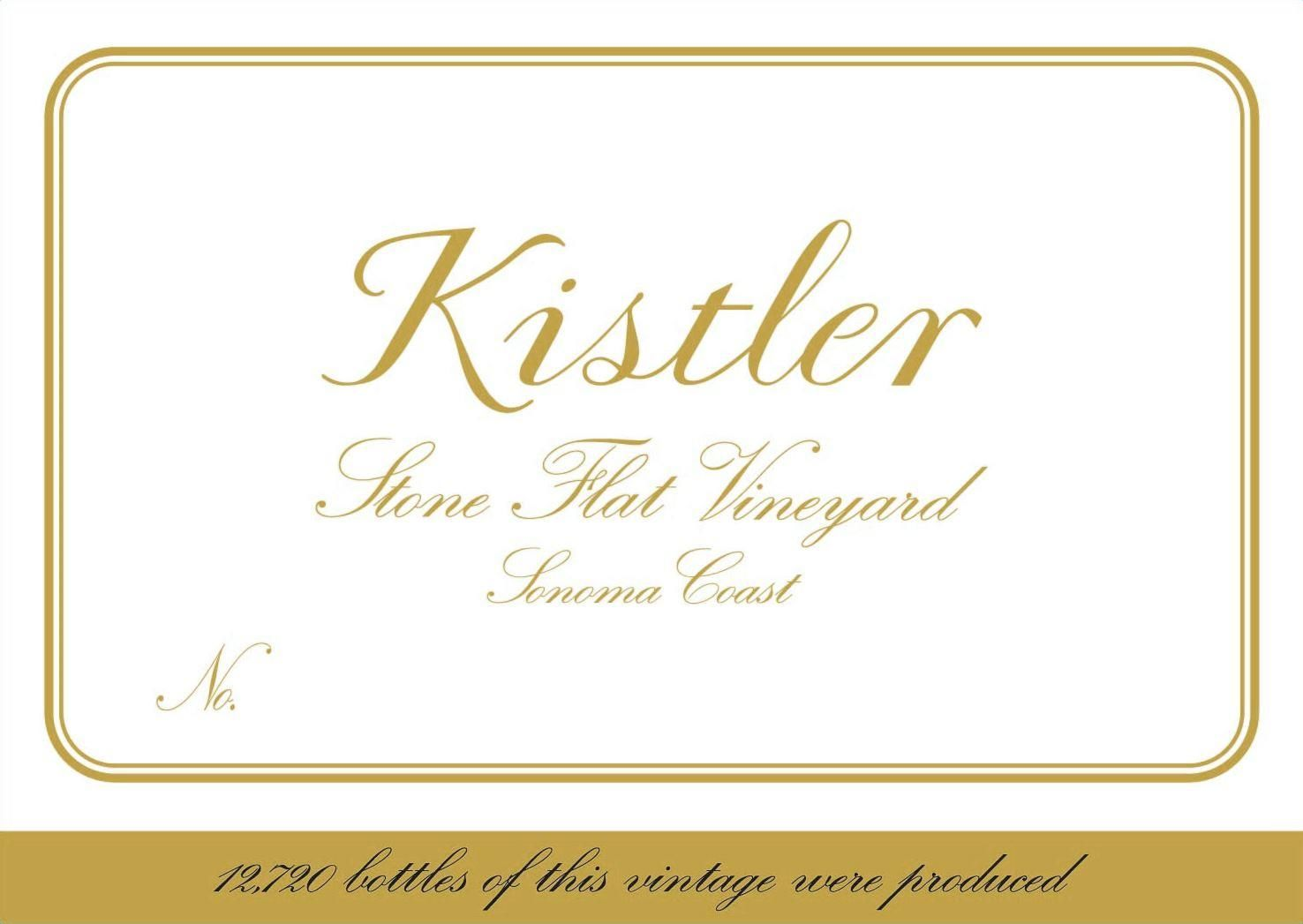 Kistler Vineyards Stone Flat Vineyard Chardonnay 2012  Front Label