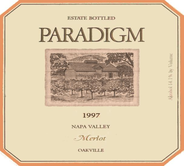 Paradigm Napa Valley Merlot 1997  Front Label