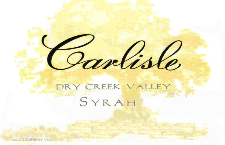 Carlisle Dry Creek Valley Syrah 2004 Front Label