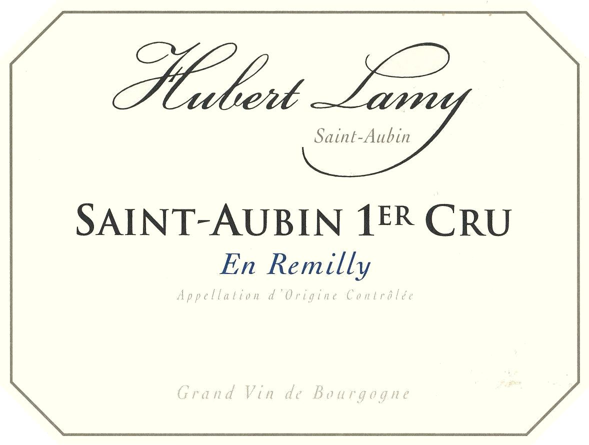 Hubert Lamy St-Aubin En Remilly Premier Cru 2018  Front Label