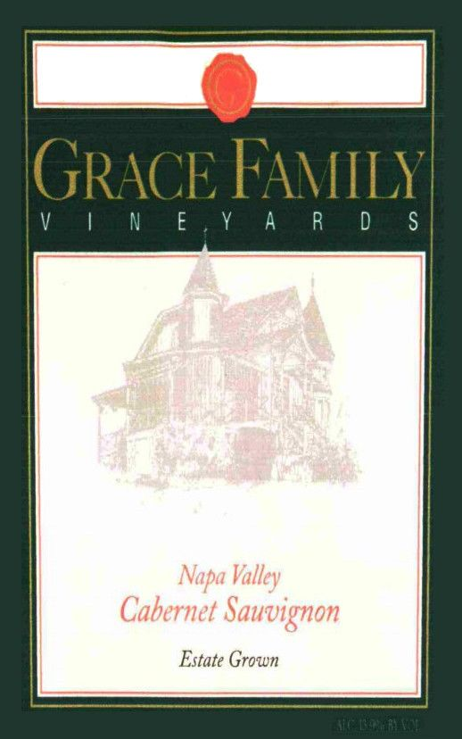 Grace Family Cabernet Sauvignon 2014 Front Label