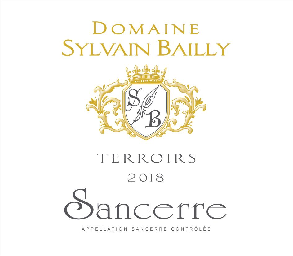 Domaine Sylvain Bailly Sancerre Terroirs 2018  Front Label