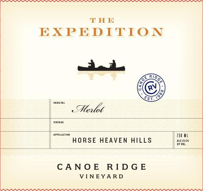 Canoe Ridge The Expedition Merlot 2016  Front Label