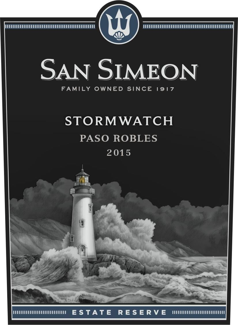 San Simeon Stormwatch Estate Reserve Red 2015  Front Label