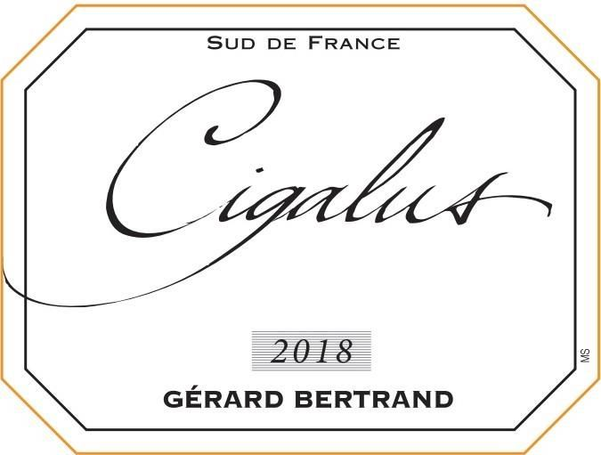 Gerard Bertrand Cigalus Rouge 2018  Front Label