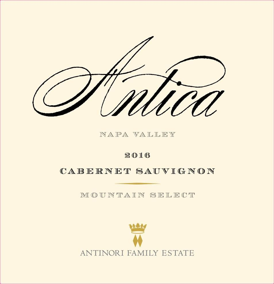 Antica Cabernet Sauvignon (Mountain Select) 2016  Front Label