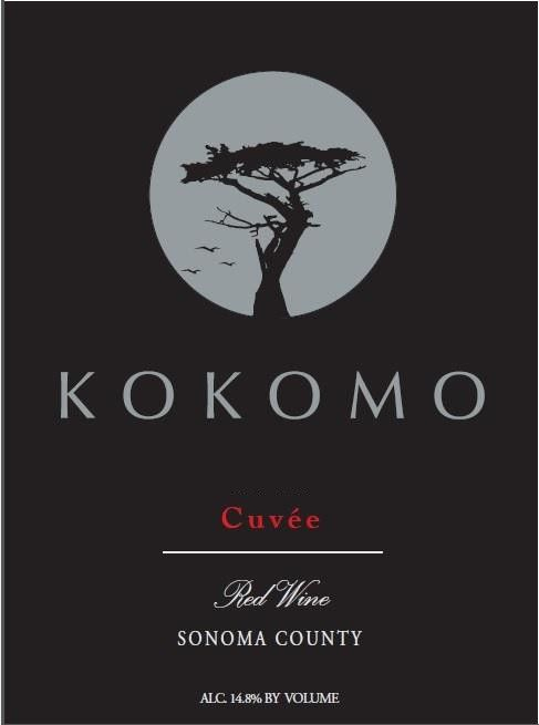 Kokomo Wines Cuvee Red 2018  Front Label