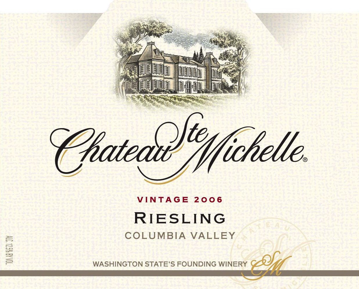 Chateau Ste. Michelle Riesling 2006 Front Label