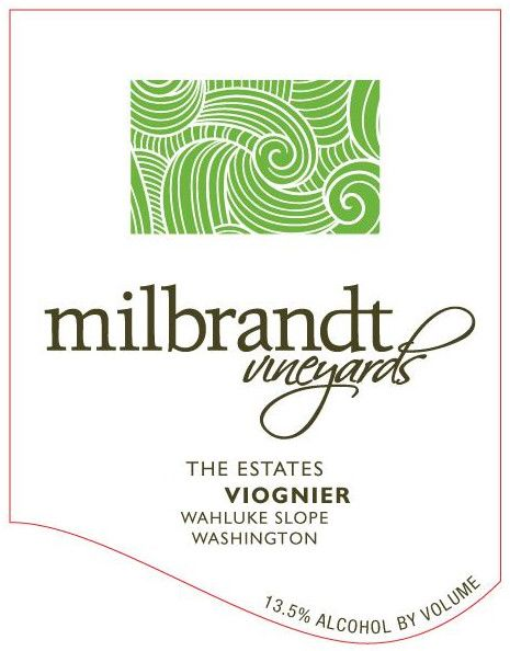 Milbrandt The Estates Viognier 2017 Front Label