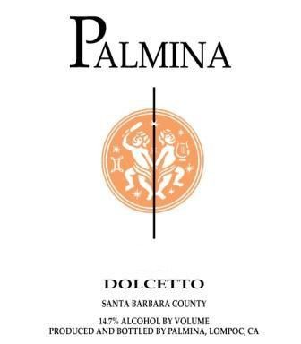 Palmina Dolcetto 2010  Front Label