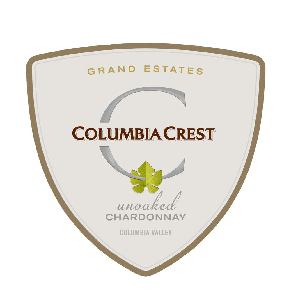 Columbia Crest Grand Estates Unoaked Chardonnay 2017  Front Label