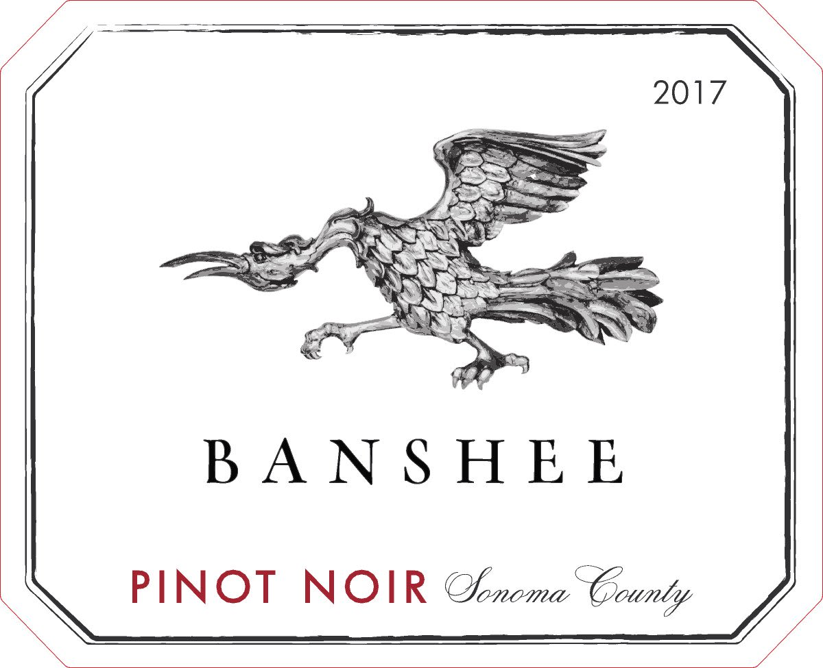 Banshee Sonoma County Pinot Noir 2017  Front Label