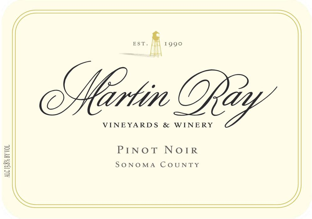 Martin Ray Sonoma County Pinot Noir (375ML half-bottle) 2015  Front Label