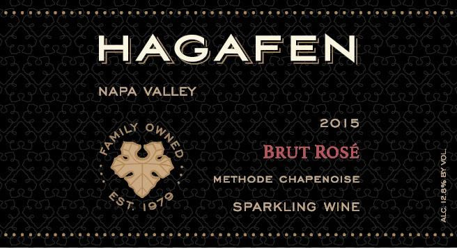 Hagafen Brut Rose (OU Kosher) 2015 Front Label
