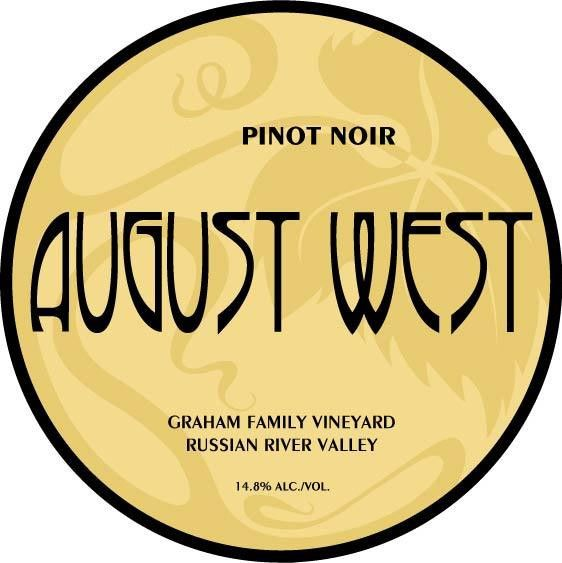 August West Graham Family Vineyard Pinot Noir 2009 Front Label