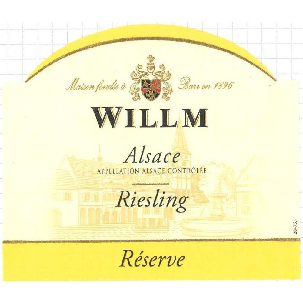 Alsace Willm Riesling Reserve (375ML half-bottle) 2017  Front Label