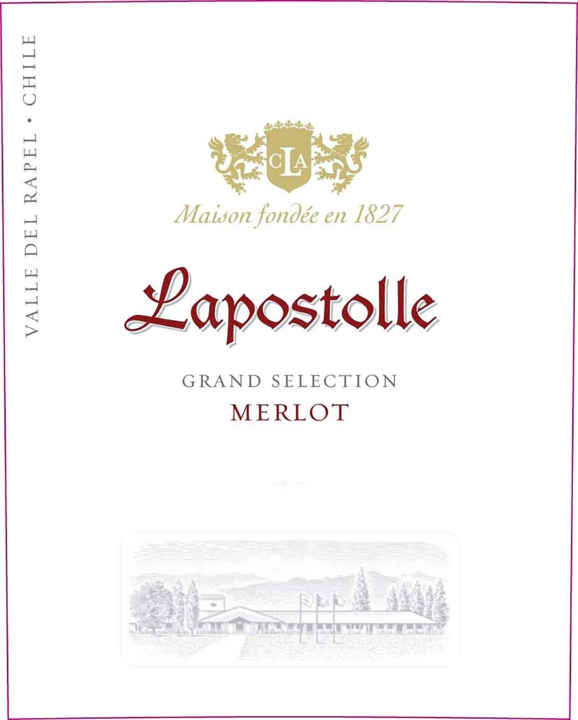 Lapostolle Grand Selection Merlot 2017  Front Label