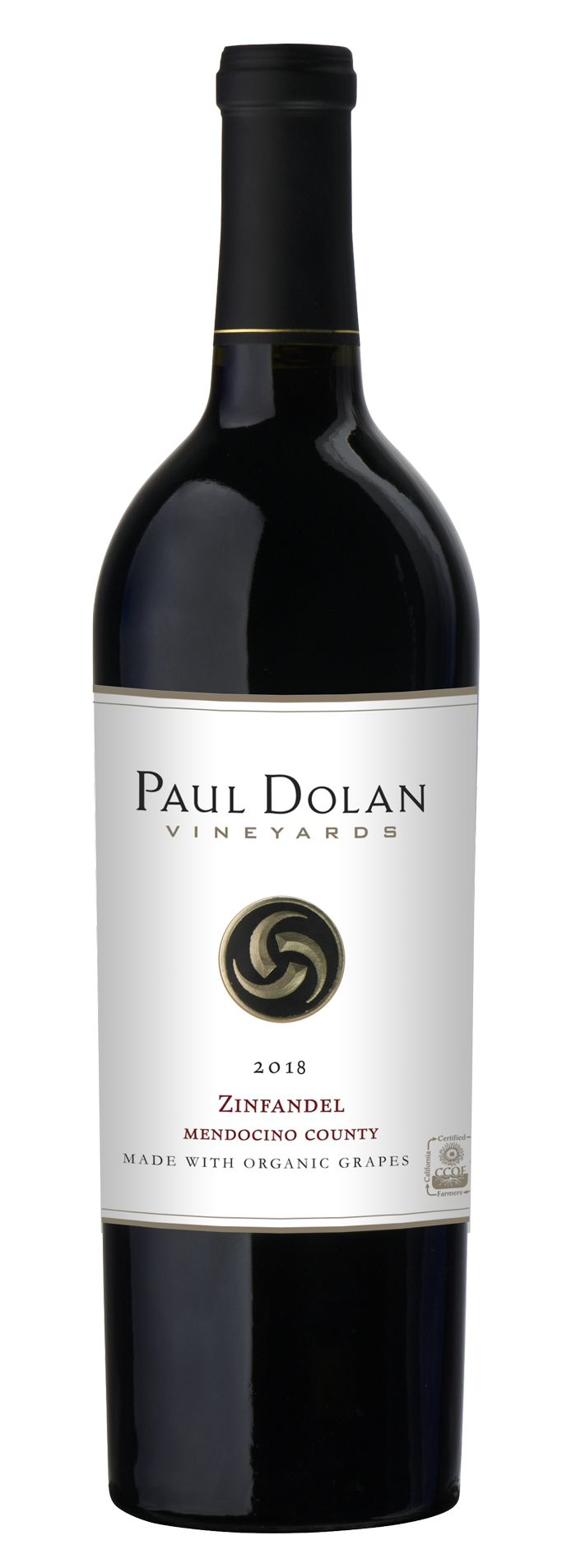 Paul Dolan Vineyards Organically Grown Zinfandel 2018 Front Bottle Shot