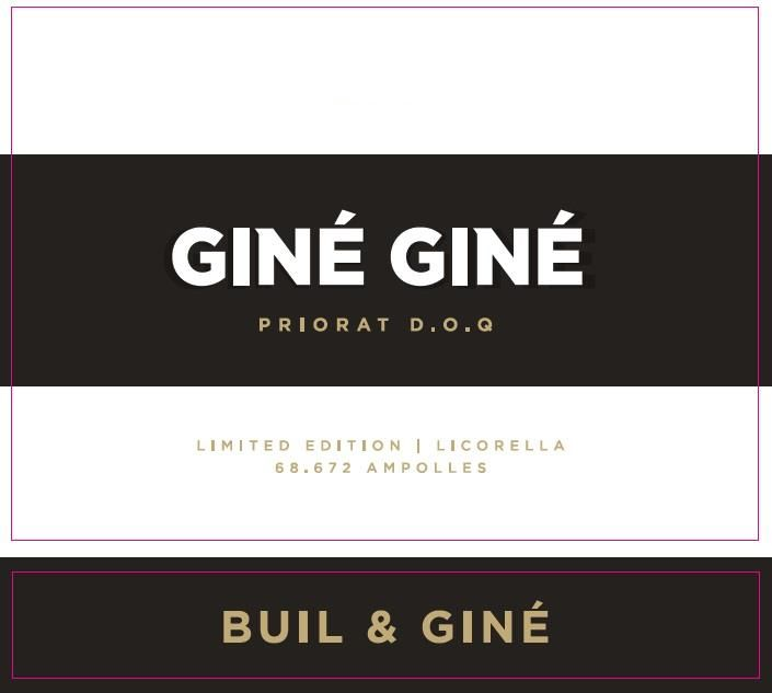 Buil and Gine Priorat Gine Gine 2017  Front Label