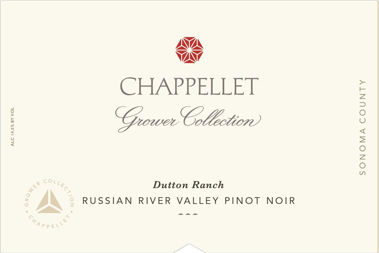 Chappellet Grower Collection Dutton Ranch Pinot Noir 2018  Front Label