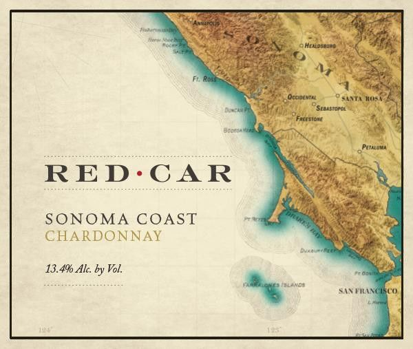 Red Car Sonoma Coast Chardonnay 2014 Front Label