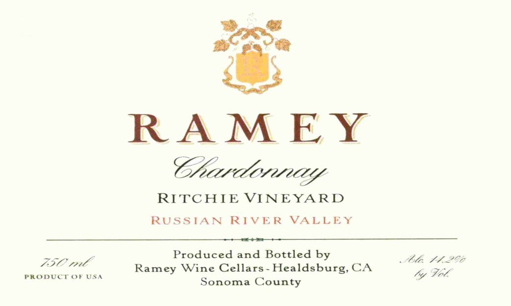 Ramey Ritchie Vineyard Chardonnay 2015 Front Label